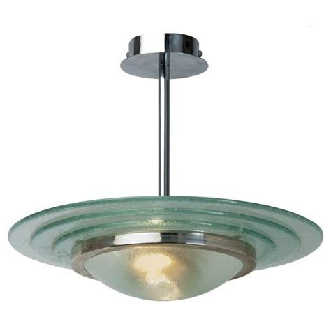 art deco uplighter ceiling pendant circular glass shade