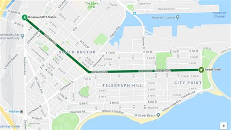 boston st patricks day parade  route details