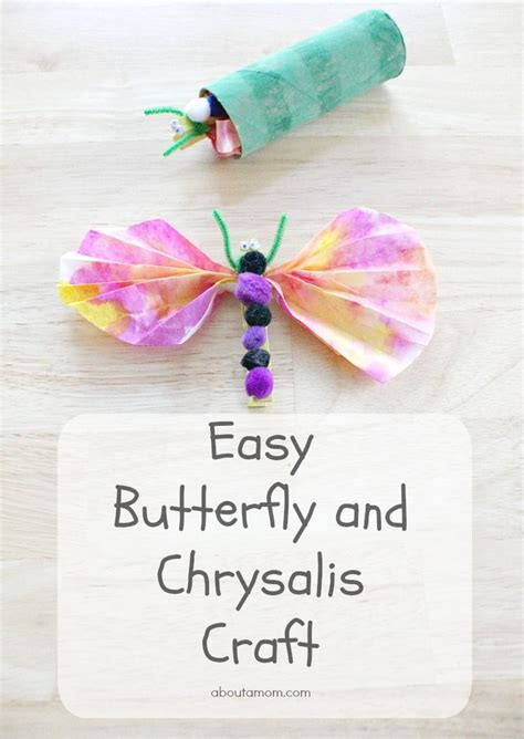 easy butterfly and chrysalis craft for 175 | 134e8f6d7e006f0da803c6e859b8d3a5