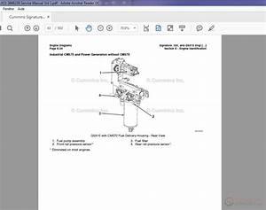 Cummins Signature Isx Qsx15 3666239 Service Manual Vol 1