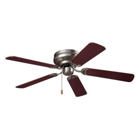 ceiling fans home depot nutone hugger series 52 in indoor brushed steel ceiling