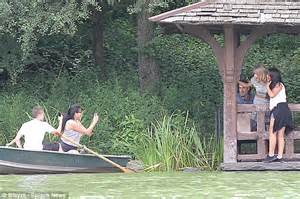 Central Park Boat Dock by Helps Fan To Dock Boat During Outing In