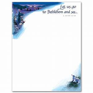 let us go to bethlehem christmas stationery With christian christmas letter