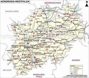 Nord Rhein Westfalen : nordrhein westfalen karte landkarte nordrhein westfalen ~ Buech-reservation.com Haus und Dekorationen