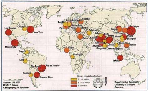 Carte Des Grandes Villes Du Monde by Les M 233 Gapoles Du Monde Quelques Rep 232 Res La Jaune Et La