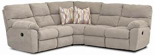 Casual power reclining sectional with accent pillows by for Sectional sofas wolf furniture