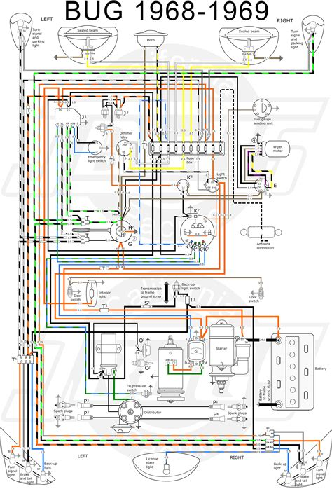 1972 vw beetle voltage regulator wiring diagram 69 vw