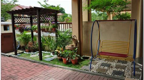 desain taman belakang rumah kecil youtube