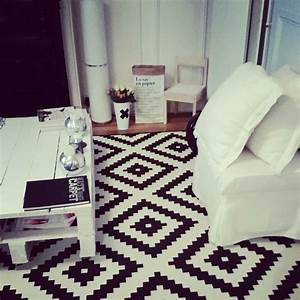 Ikea Tapis Salon : tapis de salon noir et blanc maison design ~ Premium-room.com Idées de Décoration