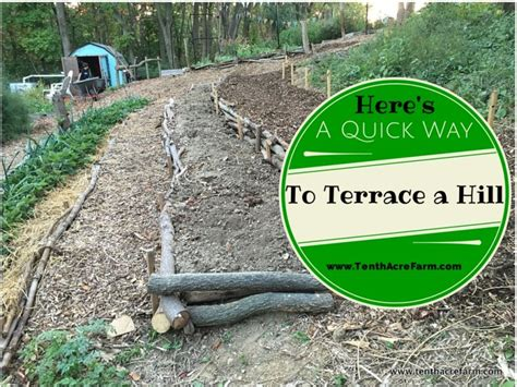 how to terrace a hill here s a quick way to terrace a hill tenth acre farm