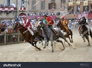 Siena, Italy - August 16: Unidentified Riders Compete In ...