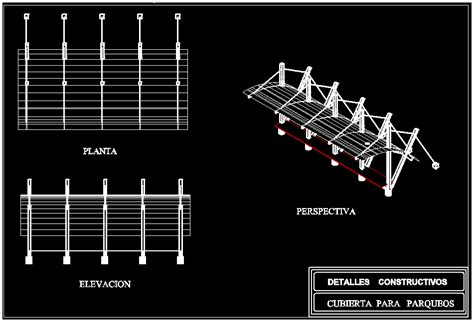 outdoor parking stalls cover dwg detail  autocad designs cad