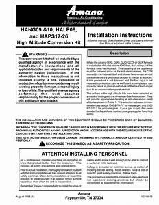 Amana Vr8205 Instruction Manual