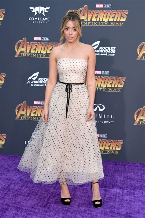 chloe bennet avengers infinity war premiere  la