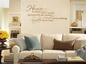 home is where love resides wall decals trading phrases With wall decals for home