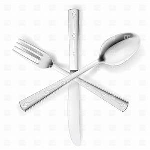 Crossed fork, spoon and knife Vector Image of Food and ...