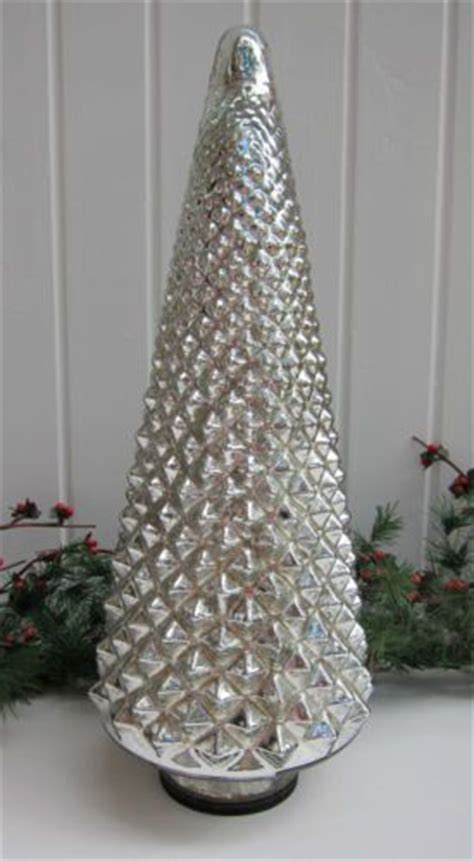 glass light up christmas tree silver mercury glass luminated light up christmas tree