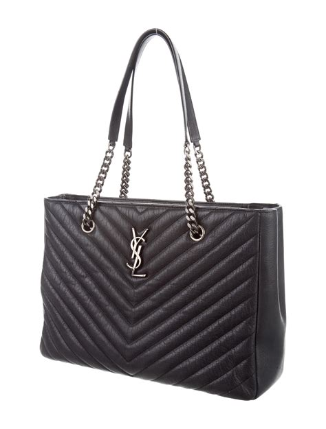 saint laurent  chevron quilted monogram bag handbags
