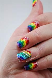 Sarahlounails  31 Day Challenge Rainbow Nails