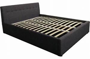 Coffre Lit 160x200 : lit coffre avec sommier relevable gris 160x200 kiami design pas cher sur sofactory ~ Teatrodelosmanantiales.com Idées de Décoration
