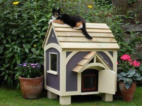 outdoor cat house plans cat stuff pinterest