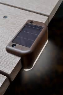 new brown solar led deck light pack of 4 porch deck safe