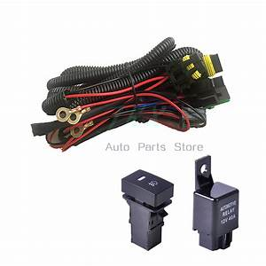 Led Drl Lights Fog Lamps W   Wiring Switch Kit For Nissan