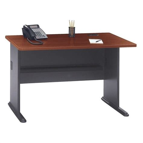 bush hansen cherry desk bush bbf series a 48w desk in hansen cherry wc90448a