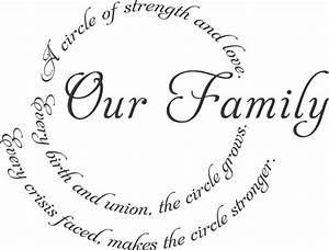 Our Family Circle 2 - Beautiful Wall Decals