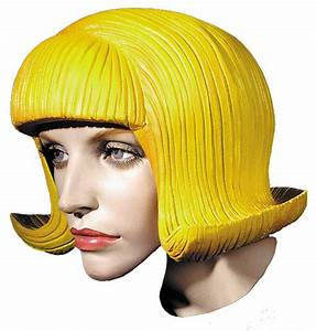 Yellow Rubber Wig - Wigs