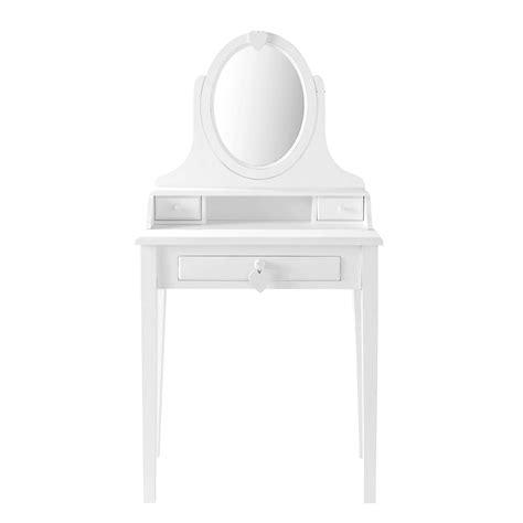 chambre bébé petit espace coiffeuse en bois blanc l 70 cm maisons du monde