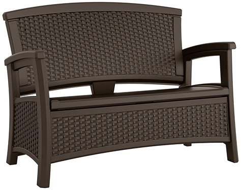suncast elements loveseat with storage java furniture