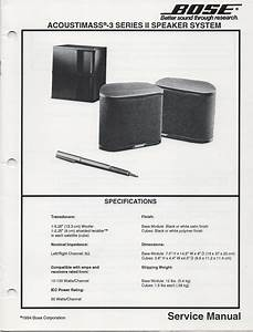 Bose Acoustimass 5 Series V Manual