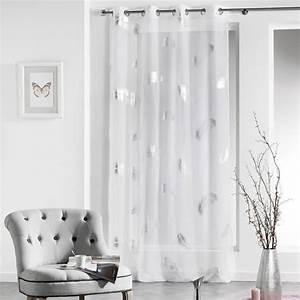Rideau Gris Et Blanc : nice rideau chambre bebe garcon 6 ophrey rideau salon ~ Dailycaller-alerts.com Idées de Décoration
