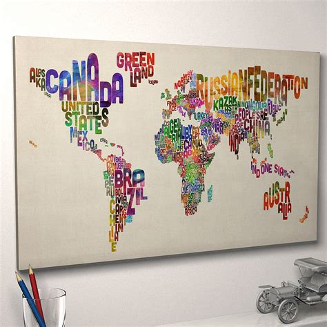 typography world map art print by artpause notonthehighstreet com