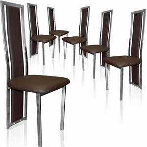 organisation chaise salle a manger marron With salle a manger marron