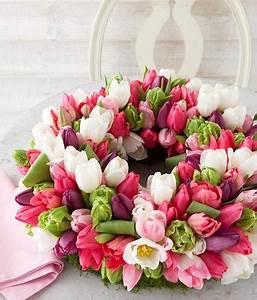Tulpen Im Glas Ohne Erde : bl tenkranz aus tulpen bild 5 living at home ~ Frokenaadalensverden.com Haus und Dekorationen