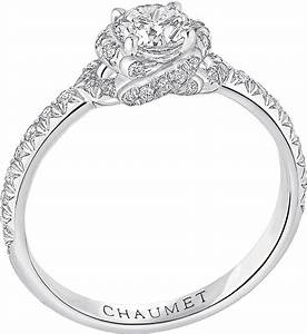 Chaumet liens solitaire platinum and diamond engagement for Chaumet wedding ring