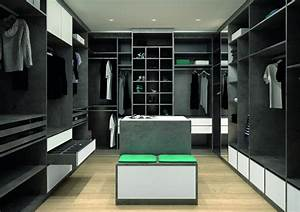 Plan Dressing En U : am nagement d 39 un dressing ouvert mobilier f camp premier plan ~ Melissatoandfro.com Idées de Décoration