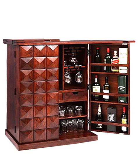 solid wood bar cabinet ethnic india art solid wood bar cabinet buy online at