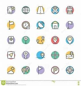 Map And Navigation Cool Vector Icons 1 Stock Image - Image ...