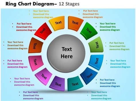 Ring Diagram by Ring Chart Diagram 12 Stages Powerpoint Slides And Ppt