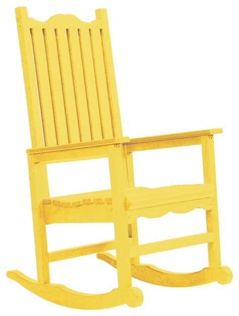 c r plastics porch rocker in yellow contemporary