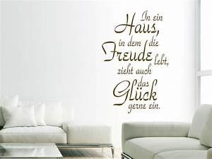Spruch Zur Hauseinweihung : spr che rund ums zuhause als wandtattoo sch ner ~ Lizthompson.info Haus und Dekorationen