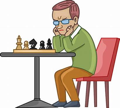 Chess Clipart Player Creazilla Board Transparent Hobby