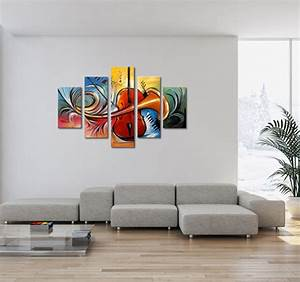 Tableau moderne abstract music for Amazing tendance couleur peinture salon 5 paysage de couleurs tableau abstrait artwall and co