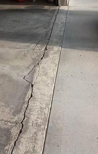 how to repair garage floor concrete damage near apron With cement floor repair in garage