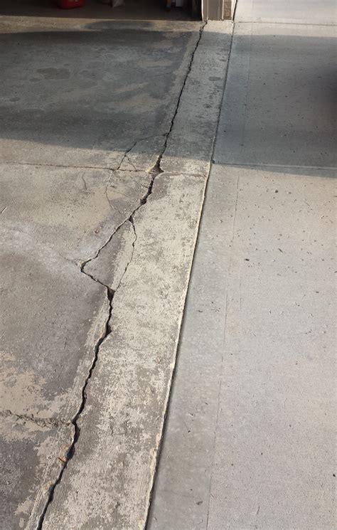 How to repair garage floor concrete damage near apron