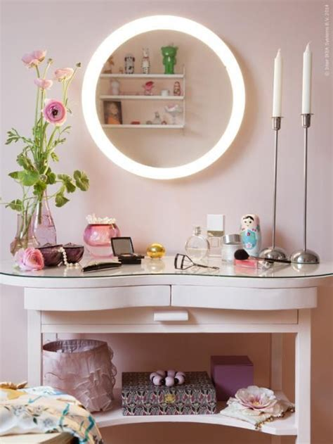 storjorm mirror with built in lighting white beauty bar