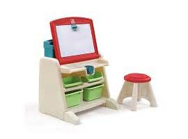 Easel Desk With Stool by Step2 Flip Doodle Easel Desk With Stool Teal Lime